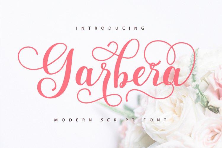 Garbera Script Font Duo example image 1