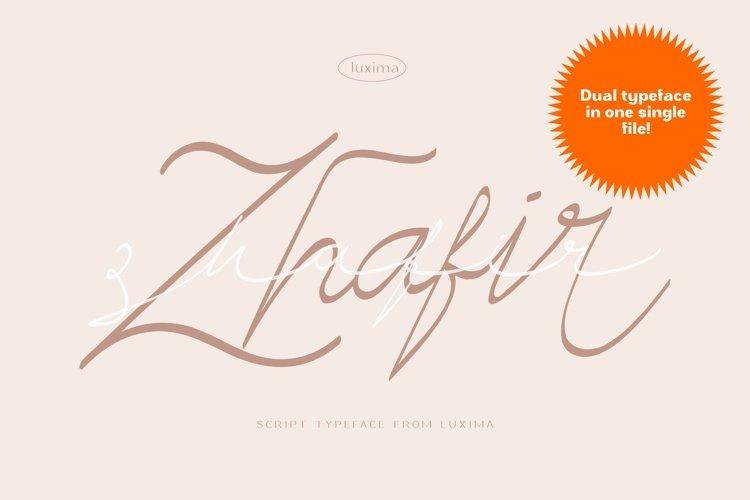Zhafir Script Font example image 1