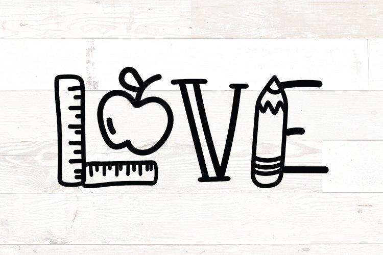 Teacher love - Teacher appreciation gift svg png
