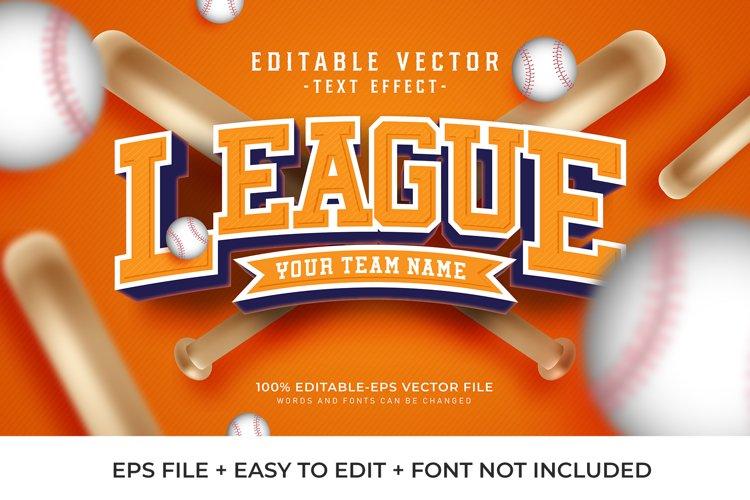 Sport League Vector Text Effect
