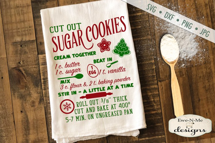Sugar Cookie Recipe - Kitchen - Christmas - SVG DXF Files