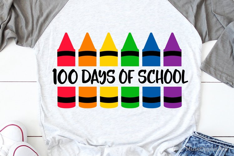 100 Days of School Svg, Funny Svg, Teacher 100th Day Shirt example image 1