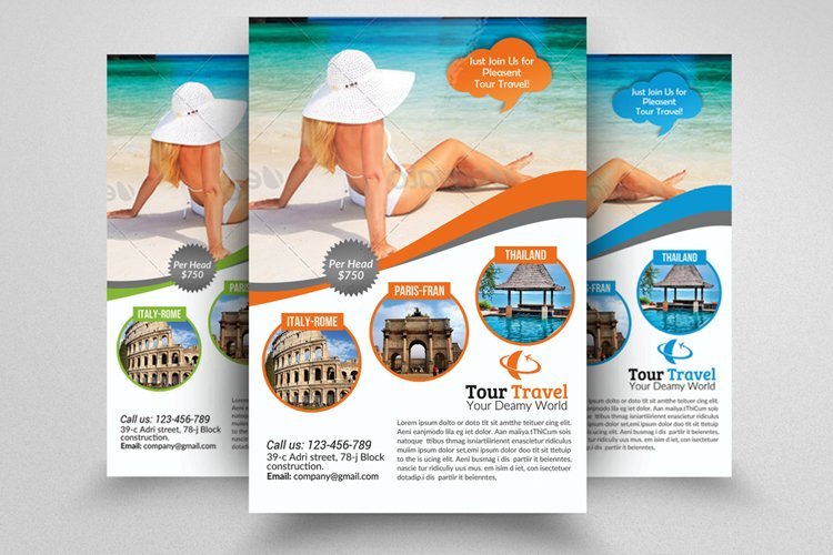 Tour Travel Agency Flyer example image 1