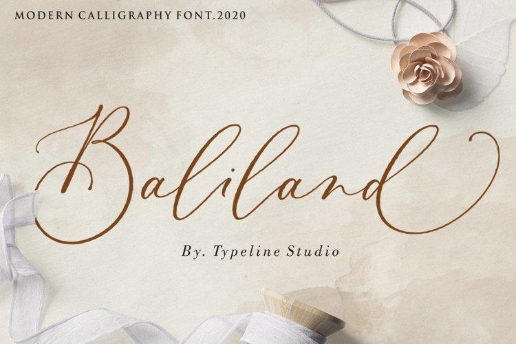 Baliland Modern Calligraphy Font. example image 1