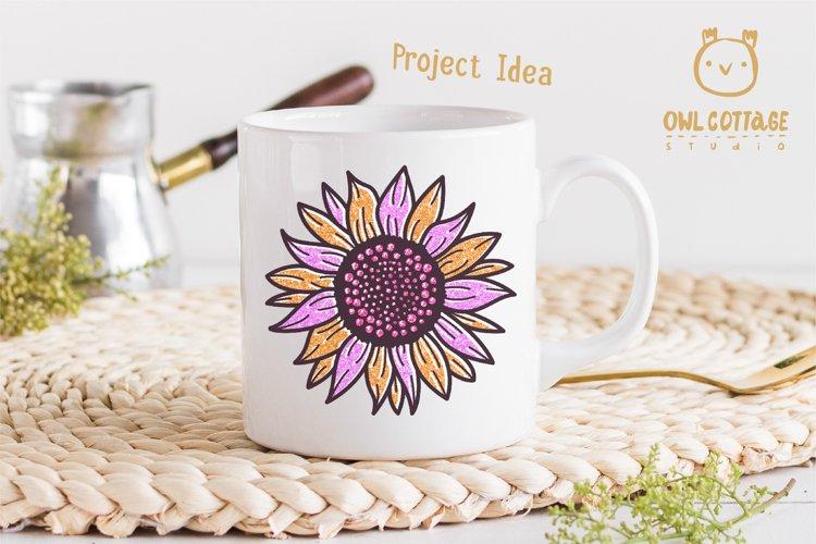 Golden Glitter Sunflowers Sublimations mini Bundle, Sunflowe example 9