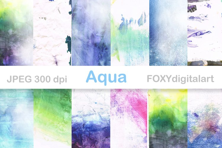 Digital Paper Watercolor Paint Brush Splatters example image 1