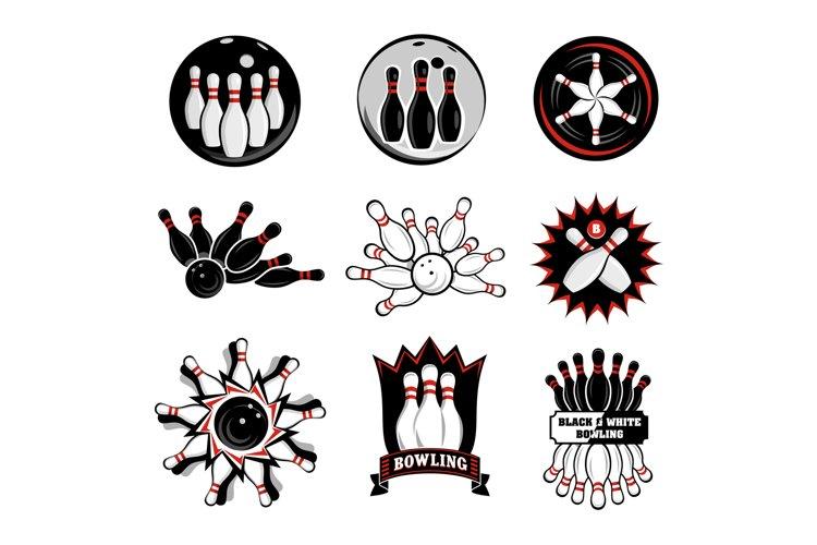 Bowling team or club emblems example image 1