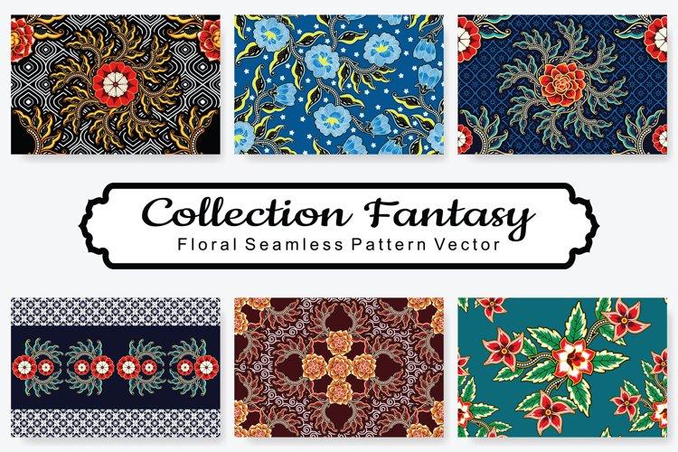 Set Of Fantasy Floral Vector Pattern Vol.12 example image 1