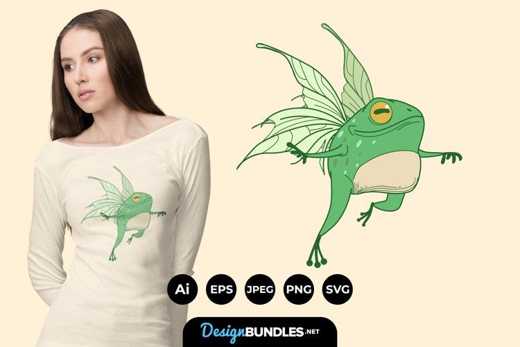Fairy Frog for T-Shirt Design