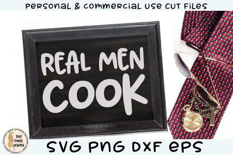 Real Men Cook SVG