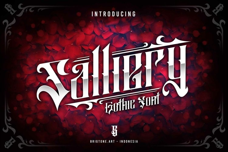 Salliery | Gothic font