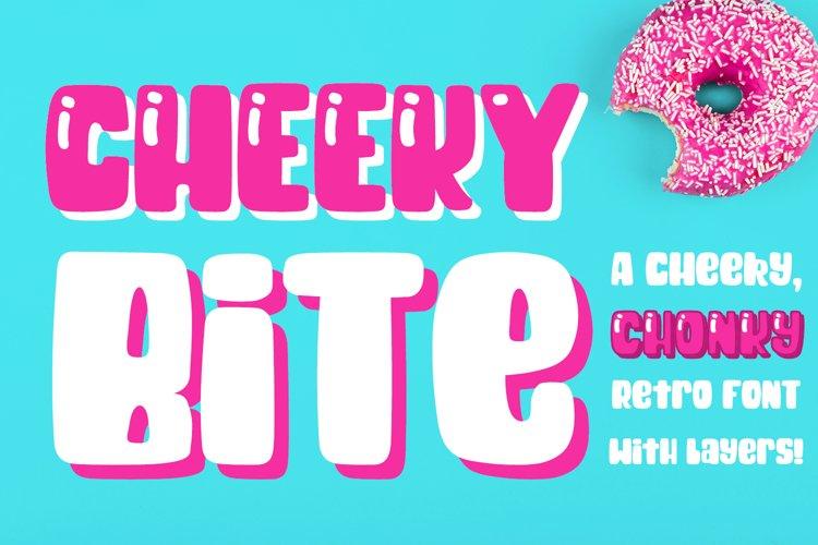 Cheeky Bite - a chunky retro layered font
