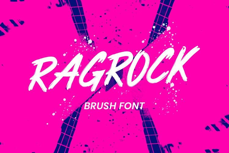 Ragrock Brush Font example image 1