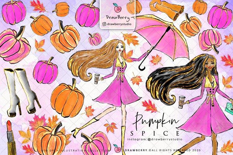 Fall Pumpkin Clipart example image 1
