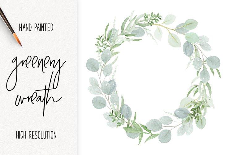 Watercolor Wedding Wreath Clip Art Sublimation Design example image 1