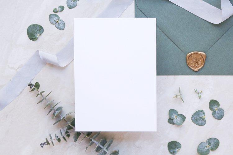 Wedding Stationery Mockup - Invite- Eucalyptus