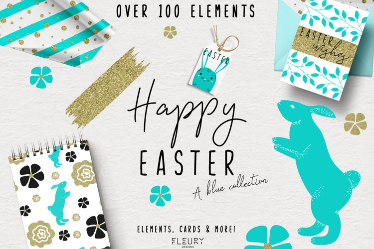 Happy Easter - a blue collection