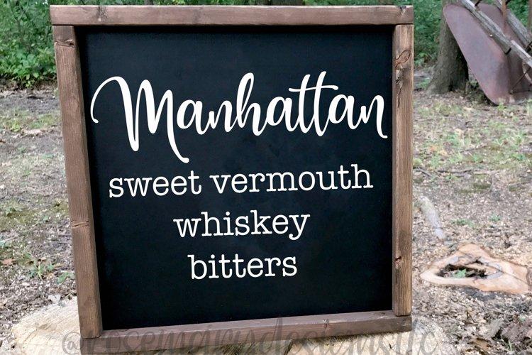 Manhattan Recipe SVG