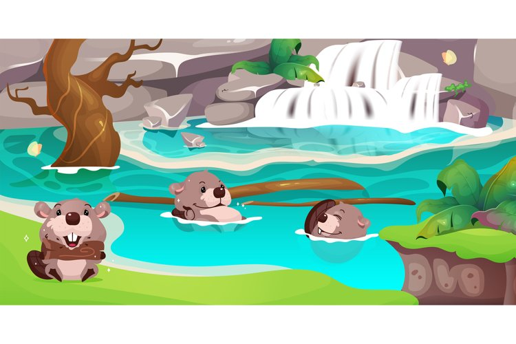 Jungle flat color vector illustration example image 1