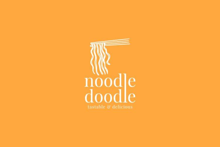 Noodle shop or restaurants logo template example image 1