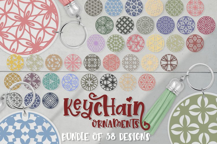 Keychain Svg Bundle of 38 designs Ornaments Geometric svg