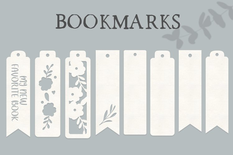 8 Bookmarks SVG cutting files