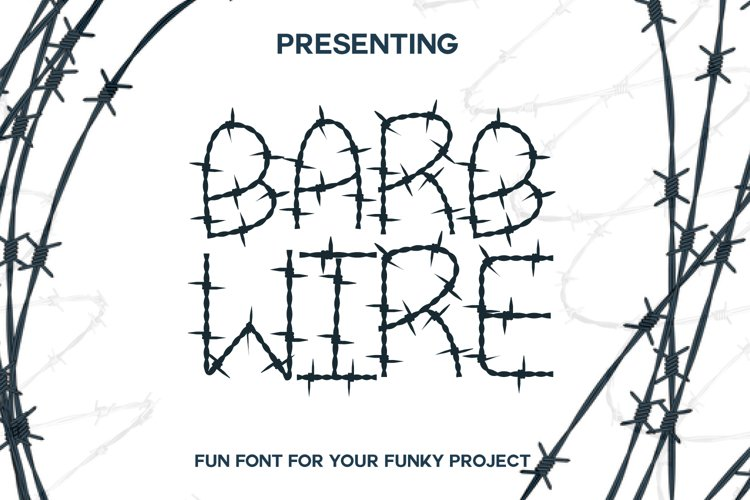 Barb Wire : A Fun Font For Projects example image 1