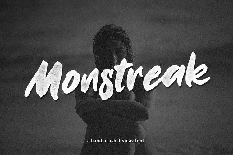 Monstreak - Hand Brush Display Font example image 1