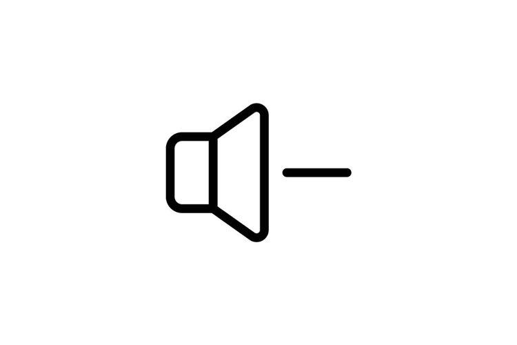 speaker Volume Symbol Icon Vector Design Illustration example image 1