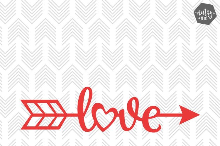 Love Arrow - SVG, AI, EPS, PDF, DXF & PNG FILES