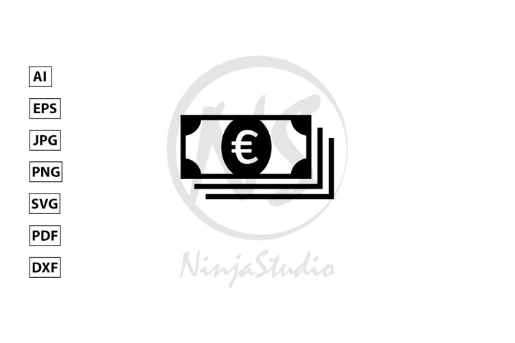 Money Icon In Flat Style Vector example image 1