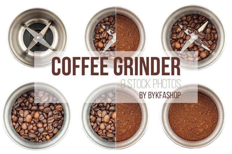 Steel Coffee Grinder Isolated Photo