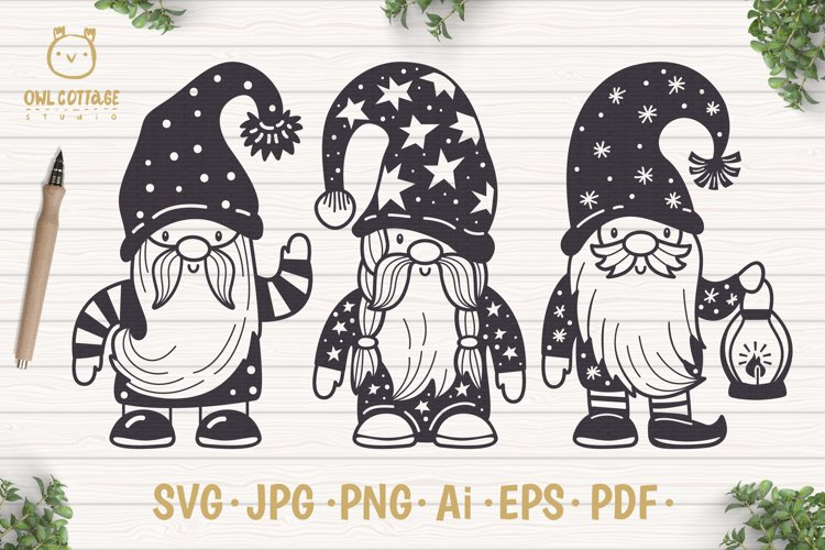 Scandinavian Gnomes SVG, Gnome Clipart, Tomte