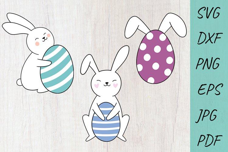 Easter SVG Cut files, Easter Bunny Svg, Rabbit SVG, EggRabbi