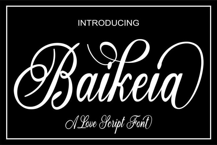 Baikeia Script example image 1
