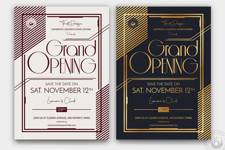Grand Opening Flyer Template V2 example image 1