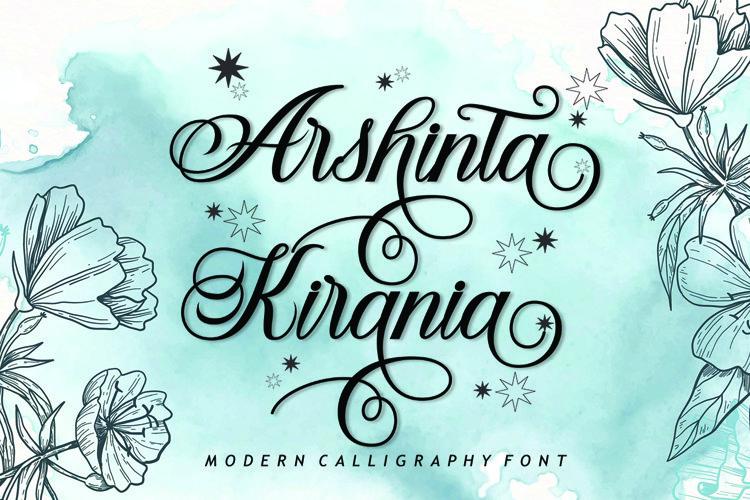 Arshinta Kirania Script example image 1