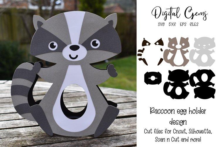 Raccoon Easter egg holder design SVG / DXF / EPS example image 1