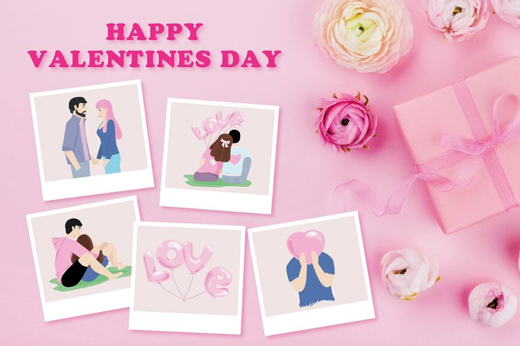 SVG Valentines Day! Guy with girl