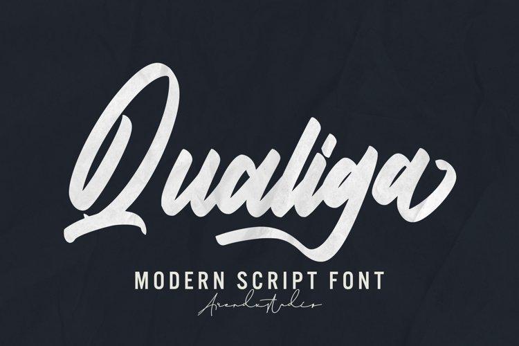 Qualiga - Script Font example image 1