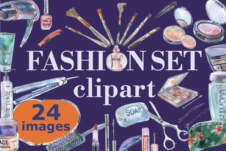 Fashion watercolor makeup set