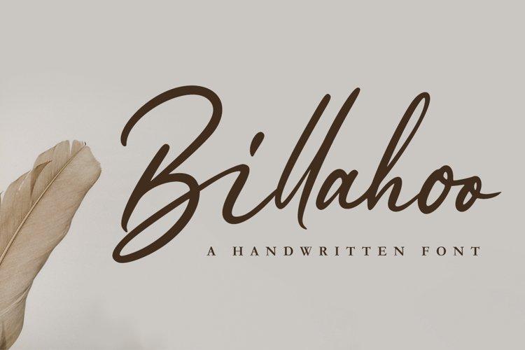 Billahoo - Elegant Font example image 1