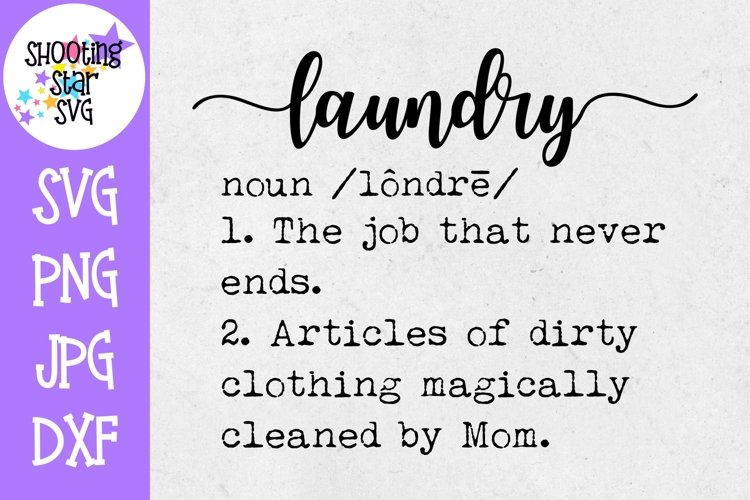 Laundry Definition SVG - Funny Laundry Definition - Decor example image 1