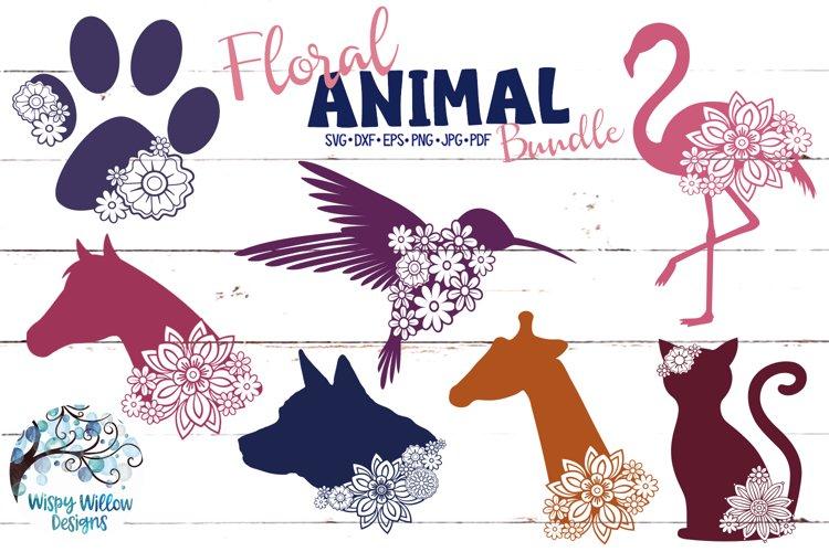 Floral Animal Bundle | Floral Animal SVG Cut Files example image 1