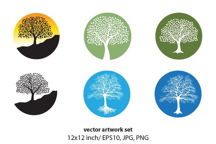 TREE- VECTOR ARTWORK SET example image 1