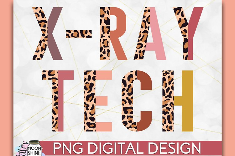 X-Ray Tech Half Leopard PNG Sublimation