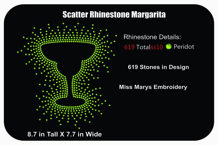 Margarita Rhinestone Template |Rhinestone SVG| Margarita SVG