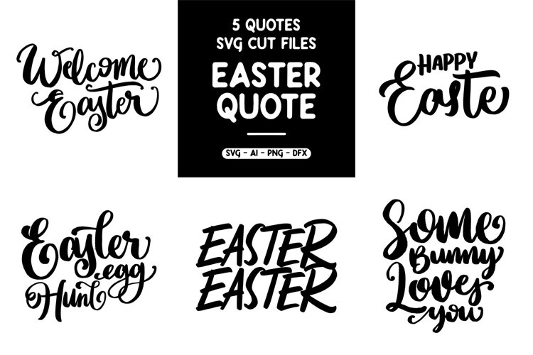SVG - 5 EASTER QUOTES Part 1 example image 1