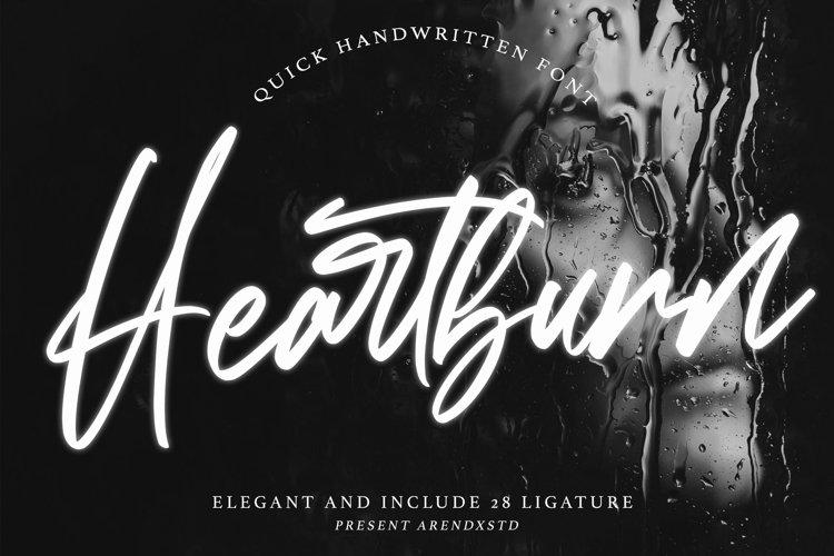 Heartburn - Quick Handwritten example image 1