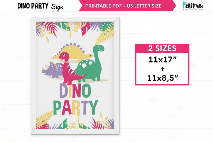 Dinosaur party Welcome Signs, Printable Dinosaur Signs example image 1
